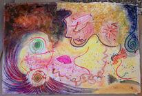 Pastellmalerei, Erde, Rot, Braun