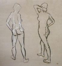 Skizze, Akt zeichnung skizze, Zeichnung, Akt