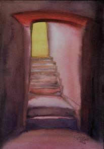 Malerei, Abstrakt, Weg, Licht