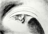 Zeichnung, Digital, Augen, Schwarzweiß