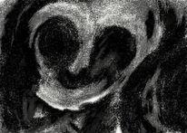Zeichnung, Schwarzweiß, Digital, Wahnsinn