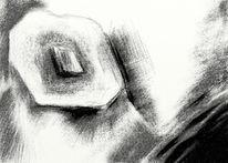Digital, Zeichnung, Schwarzweiß, Wahnsinn