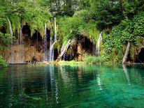 See, Wasserfall, Plitvicka, Landschaft