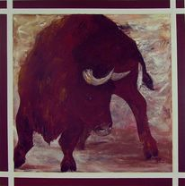 Stier, Malerei, Figural,