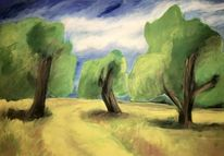 Landschaft, Realismus, Malerei
