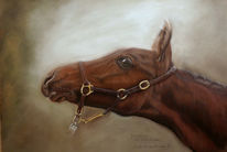 Pastellmalerei, Pferde, Malerei, Fohlen