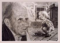Acrylmalerei, Junge, Menschen, Malerei