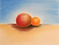 Stillleben, Obst, Pastellmalerei, Malerei