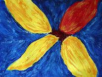 Acrylmalerei, Malerei, Blumen, Spachtel