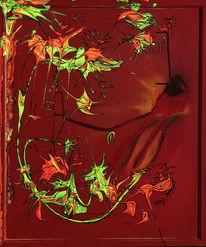 Acrylmalerei, Liebe, Abstrakt, Drama