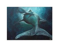 Blau, Wal, Meer, Malerei