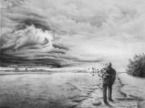 Zeichnungen, Surreal, Stille, Flucht