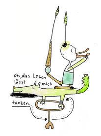 Illustration, Tanz, Poesie, Krokodil