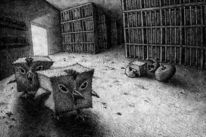 Tiere, Quadrat, Huhn, Surreal