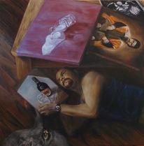 Emotionenkiller, Kuh, Weißhöhung, Malerei