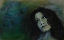 Malerei, Kopf, Wand, Wind