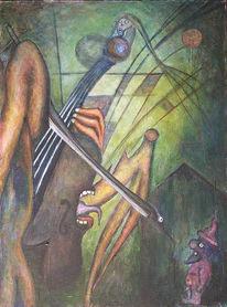 Malerei, Cello