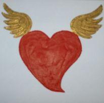 Flügel, Herz, Engelsherz, Malerei