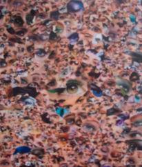 Augen, Collage, Sehen, Wimpern