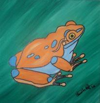 Frosch, Tiere, Giftpfeilfrosch, Malerei