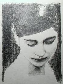 Zeichnung, Prinzessin, Portrait, Zeichenübung