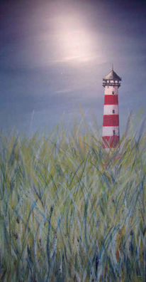 Meer, Himmel, Leuchtturm, Strand
