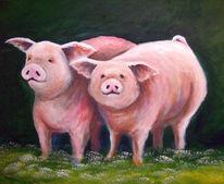 Tiere, Schwein, Malerei