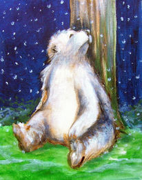 Schnee, Bär, Wald, Zeichnungen