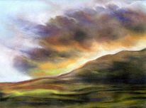 Wolken, Gewitter, Berge, Landschaft