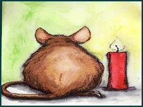 Tiere, Portrait, Maus, Zeichnung