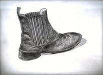 Schuhe, Bleistiftzeichnung, Zeichnungen