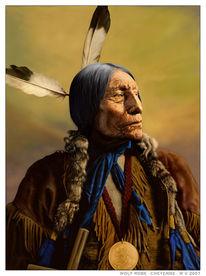 Indianer, Häuptling, Western, Digitale kunst