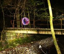 Nachtaufnahme, Lightpainting, Fotografie, Zauber