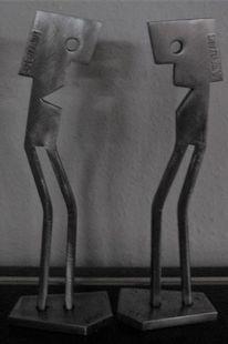Stahl, Eisenfigur, Eisen zart, Stahlskulptur