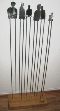 Stahl, Gruppe, Edelstahl, Kunsthandwerk
