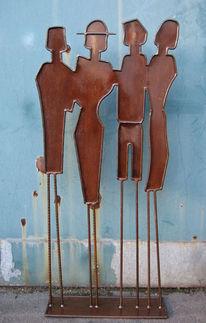 Metall, Shoppen, Figur, Stahl