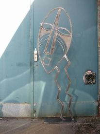 Metall, Maske, Mönchengladbach, Skulptur