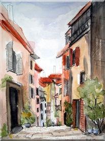 Malerei, Landschaft, Mediterran, Meer