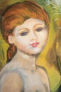 Mädchen, Malerei, Figural, Portrait