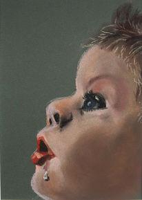 Portrait, Pastellmalerei, Figural, Malerei
