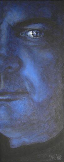 Acrylmalerei, Gesicht, Portrait, Mann