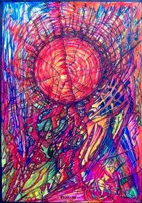 Stern, Universum, Abstrakt, Malerei