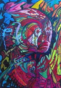 Weit, Abstrakt, Nacht, Malerei