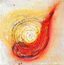 Malerei, Abstrakt, Sonne, Hölle