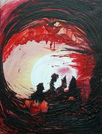 Malerei, Abstrakt, Pilze