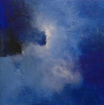 Malerei, Abstrakt, Acrylmalerei, Blau