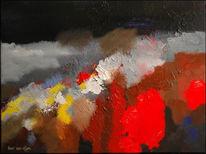 Oijen, Abstrakt, Bart, Acrylmalerei