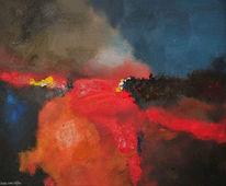Oijen, Abstrakt, Acrylmalerei, Bart
