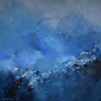 Blau, Storm, Acrylmalerei, Malerei