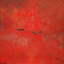 Malerei, Abstrakt, Rot